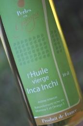 Bouteille d'huile vierge Inca Inchi Perles de Gascogne
