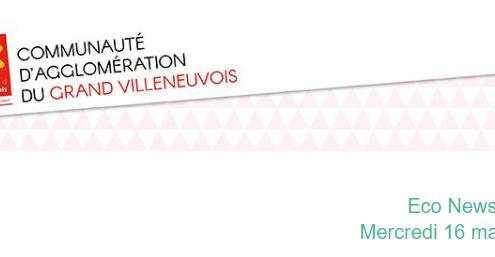 En-tête de la newsletter de la Communauté de l'Aggromération du Villeneuvois