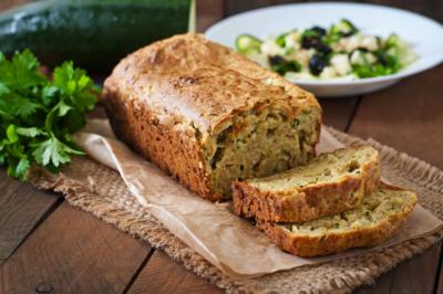photo pain de courgettes