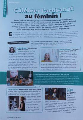 Page 1 article Madame Artisanat