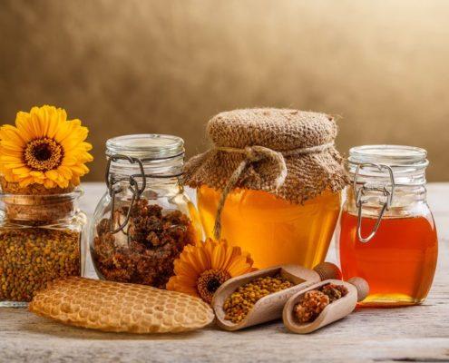 photo présentation miel recette masque