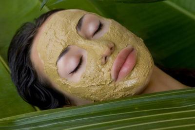 photo masque visage argile verte